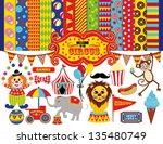set of circus icons with... | Shutterstock .eps vector #135480749