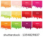 melted flowing fruit syrup... | Shutterstock .eps vector #1354829837