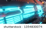 abstract technology background  ... | Shutterstock . vector #1354830074