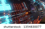 abstract technology background  ... | Shutterstock . vector #1354830077
