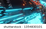 abstract technology background  ... | Shutterstock . vector #1354830101