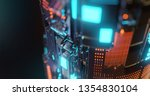 abstract technology background  ... | Shutterstock . vector #1354830104