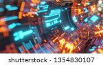 abstract technology background  ... | Shutterstock . vector #1354830107