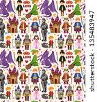 seamless fairy tale pattern | Shutterstock .eps vector #135483947