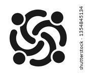 people logo. team icon. partner ... | Shutterstock .eps vector #1354845134
