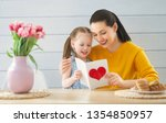 happy mother's day  child... | Shutterstock . vector #1354850957
