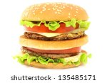 hamburger on white background | Shutterstock . vector #135485171