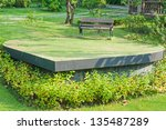 Romantic Bench In Peaceful Par...