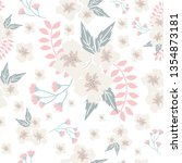 white and pink seamless pattern | Shutterstock .eps vector #1354873181