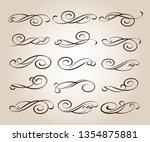 set calligraphic design... | Shutterstock .eps vector #1354875881