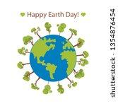 happy earth day banner....   Shutterstock .eps vector #1354876454