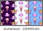 set of seamless pattern with... | Shutterstock .eps vector #1354902101