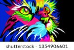 cat abstraction. adorable... | Shutterstock .eps vector #1354906601