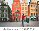 couple in love traveling... | Shutterstock . vector #1354916171