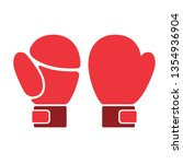 boxing gloves flat illustration ... | Shutterstock .eps vector #1354936904