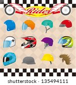 helmet | Shutterstock .eps vector #135494111