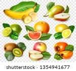 fruits set. realistic style... | Shutterstock .eps vector #1354941677