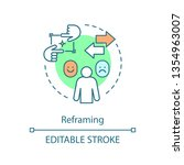 reframing concept icon. mental... | Shutterstock .eps vector #1354963007