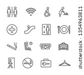 vector set of public navigation ... | Shutterstock .eps vector #1354963811