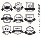 Set of  retro vintage badges and labels. eps10 - stock vector