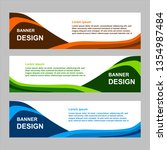 vector design banner background | Shutterstock .eps vector #1354987484