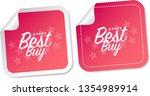 best buy stickers | Shutterstock .eps vector #1354989914