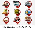 detailed navigation icons set 3 | Shutterstock .eps vector #135499304