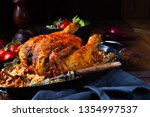 grilled spicy chicken with... | Shutterstock . vector #1354997537