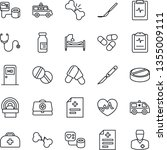 thin line icon set   medical...   Shutterstock .eps vector #1355009111