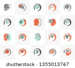 flat line icons set of human...   Shutterstock .eps vector #1355013767