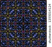 embroidery colorful pattern... | Shutterstock .eps vector #1355014124