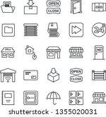 thin line icon set   24 around... | Shutterstock .eps vector #1355020031