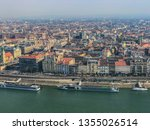 panoramic views of budapest... | Shutterstock . vector #1355026514