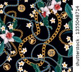 seamless summer pattern with...   Shutterstock .eps vector #1355048714