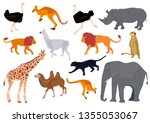 africa animal decorative set... | Shutterstock .eps vector #1355053067