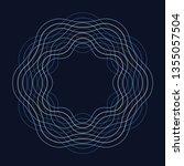 circle guilloch in vector ... | Shutterstock .eps vector #1355057504