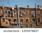 fragment of a brick house with...   Shutterstock . vector #1355078837