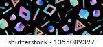 neo memphis  vaporwave sci fi... | Shutterstock .eps vector #1355089397