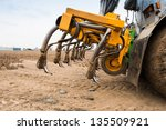 detailed view of a used slurry...