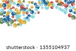 cute floral pattern with simple ... | Shutterstock .eps vector #1355104937
