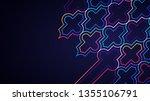 eid mubarak poster  banner or... | Shutterstock .eps vector #1355106791