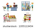 people going shopping in... | Shutterstock .eps vector #1355113454
