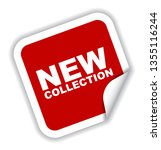 red vector banner new collection | Shutterstock .eps vector #1355116244