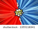 comic duel concept with two... | Shutterstock .eps vector #1355118341