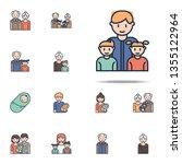 father with children cartoon...   Shutterstock . vector #1355122964