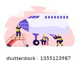 airport worker service and... | Shutterstock .eps vector #1355123987