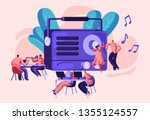 radio personality on air banner.... | Shutterstock .eps vector #1355124557