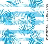tropical pattern  palm leaves... | Shutterstock .eps vector #1355124701