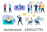 people characters set. social... | Shutterstock .eps vector #1355127791