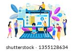 search concept. tiny people... | Shutterstock .eps vector #1355128634